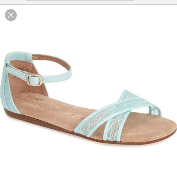 483ea7be9da3 Toms Correa Sandal Light Blue Lace NWT